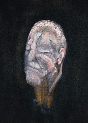 Francis Bacon, Study for Portrait I (after the Life Mask of William Blake), 1955