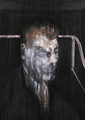 Francis Bacon, Head in Grey, 1955