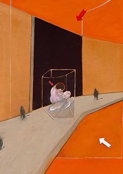 Francis Bacon, Statue and Figures in a Street, 1983