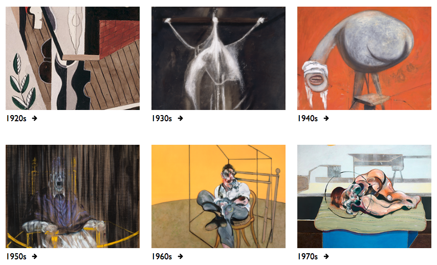 Decorative image: Bacon Paintings by Decade