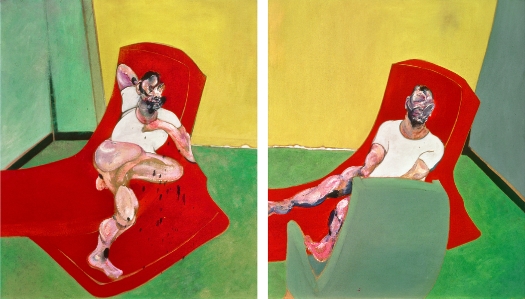 Decorative image: Francis Bacon's Double Portrait of Lucian Freud and Frank Auerbach, 1964.