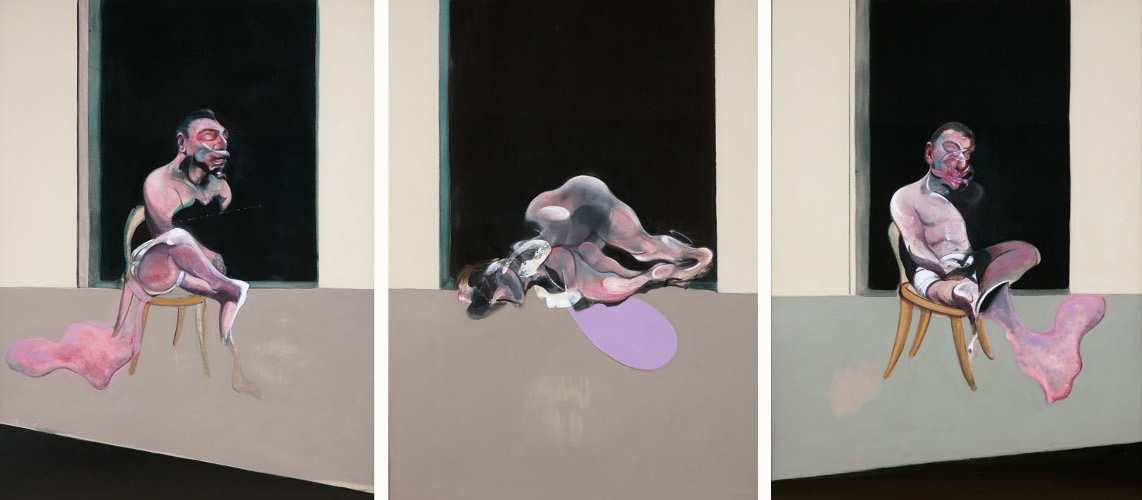 Decorative image: Francis Bacon's Triptych August 1972.