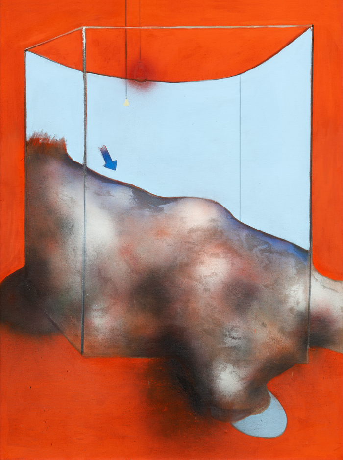 Image: Francis Bacon's oil, pastel and dust on canvas painting: Sand Dune, 1983. Catalogue Raisonné number 03-05.