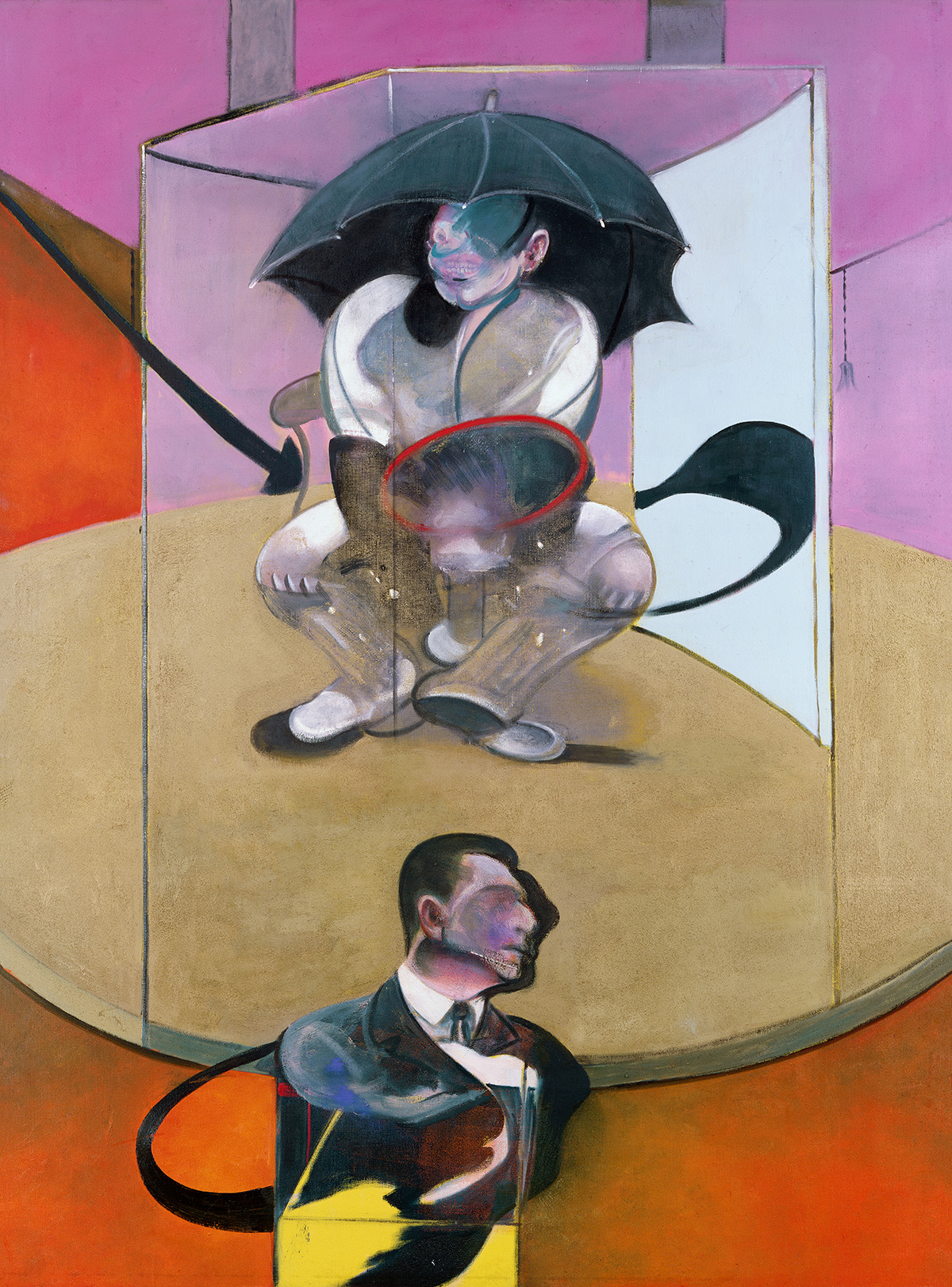Francis Bacon, Seated Figure, 1978. Oil and sand on canvas. CR number 78-06. The estate of Francis Bacon / DACS London 2020. All rights reserved.