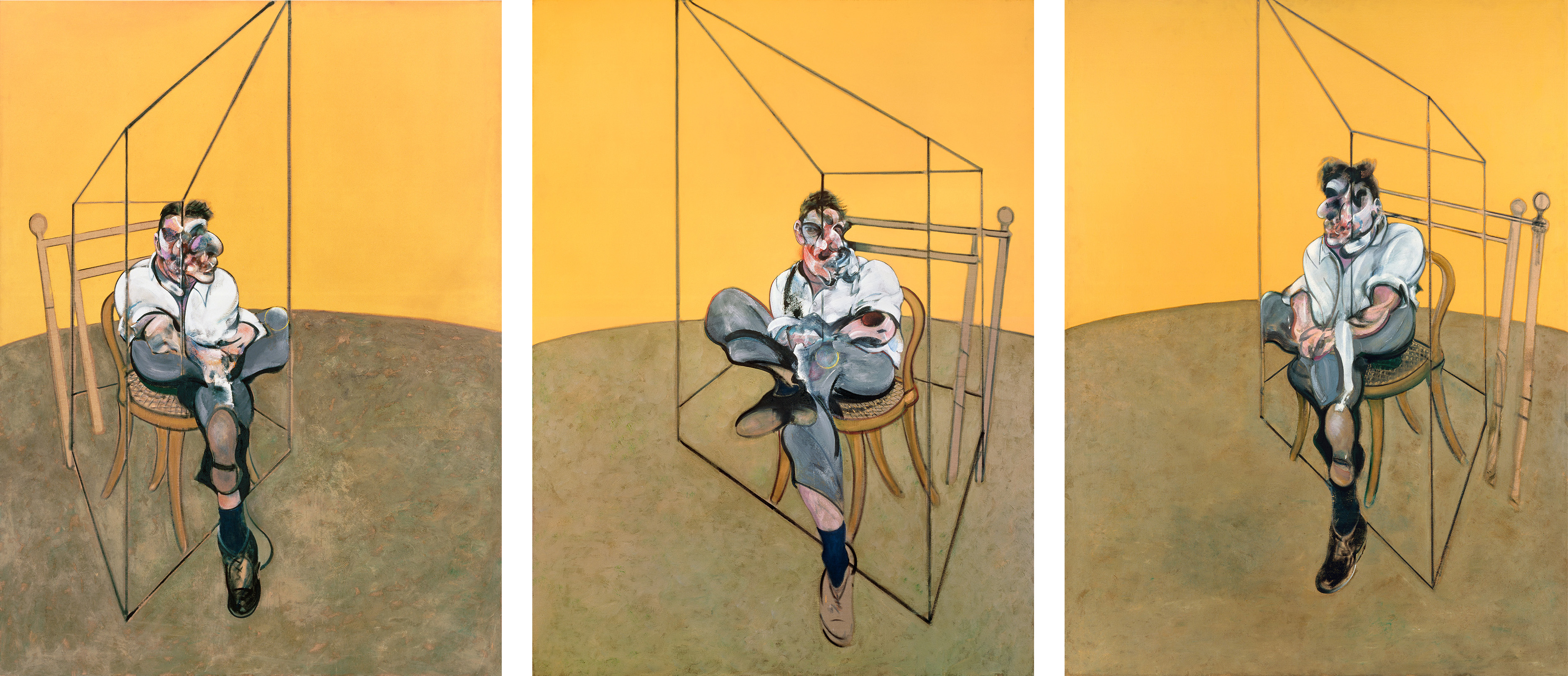 Francis Bacon, Three Studies of Lucian Freud, 1969. Oil on canvas. CR number 69-07. © The Estate of Francis Bacon / DACS London 2020. All rights reserved.