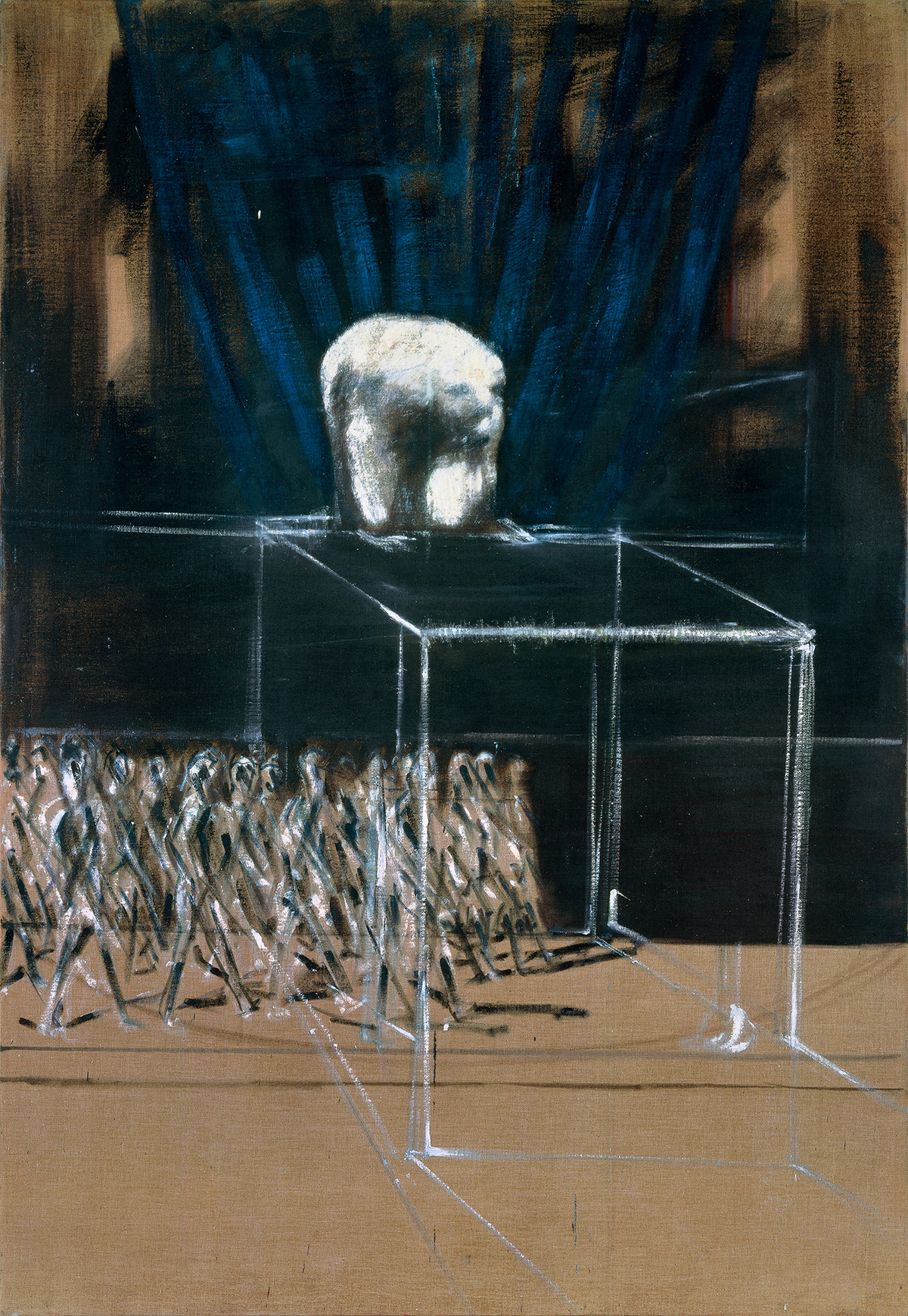 Francis Bacon, 'Marching Figures', 1952. Oil on canvas. CR number 52-22. © The Estate of Francis Bacon / DACS London 2020. All rights reserved.