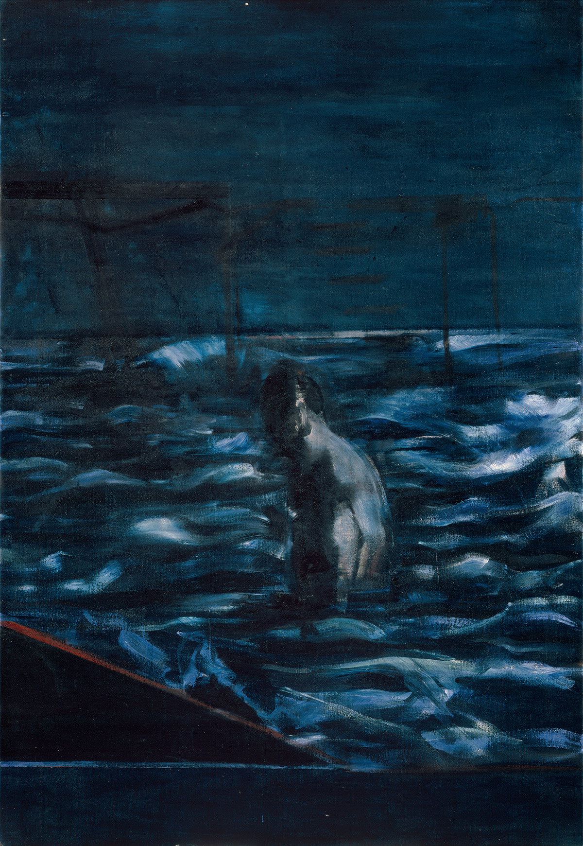 Francis Bacon, 'Figure in Sea', c.1957. Oil on canvas. CR number 57-24. © The Estate of Francis Bacon / DACS London 2020. All rights reserved.