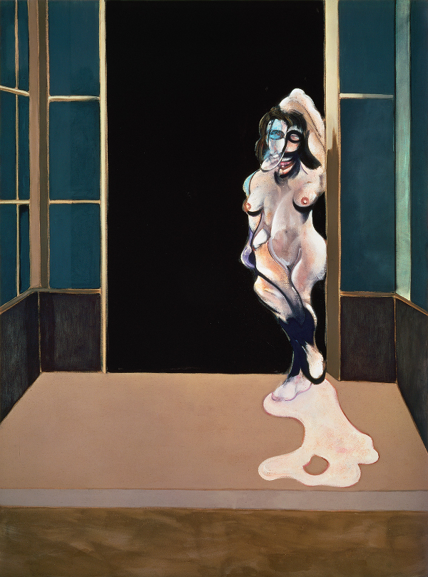 Decorative image: Francis Bacon's oil on canvas painting: Female Nude Standing in a Doorway, 1972.