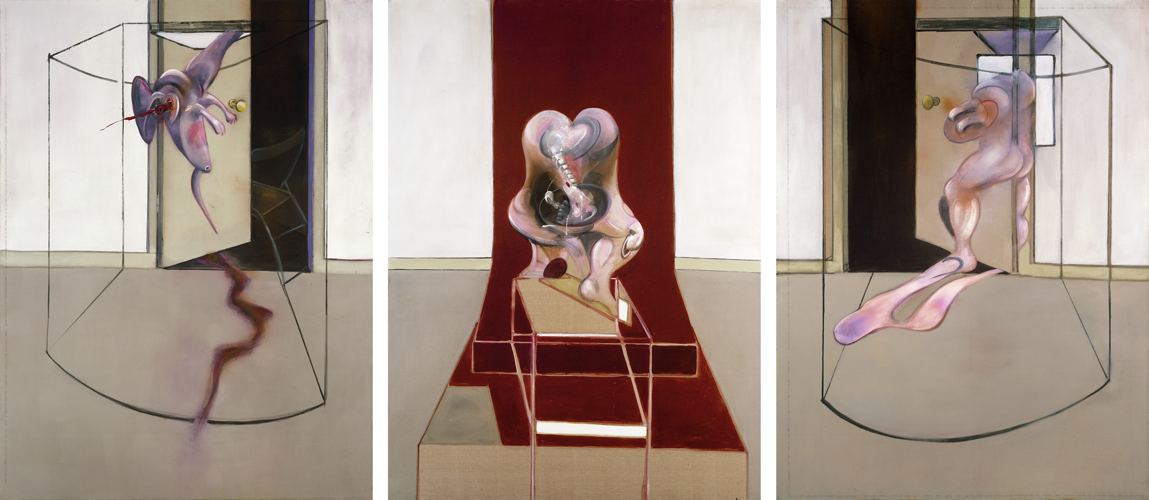 Francis Bacon, Triptych, Inspired by the Oresteia of Aeschylus, 1981. Oil on canvas. CR number 81-03. © The Estate of Francis Bacon / DACS London 2020.  All rights reserved.