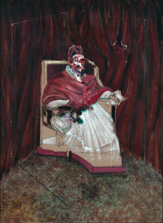 Francis Bacon, Study from Portrait of Pope Innocent X, 1965. Oil on canvas. © The Estate of Francis Bacon / DACS London 2017. All rights reserved. A 1989 lithograph of this work is due to be exhibited by Marlborough Fine Art.