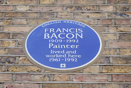 English Heritage Blue Plaque for Francis Bacon