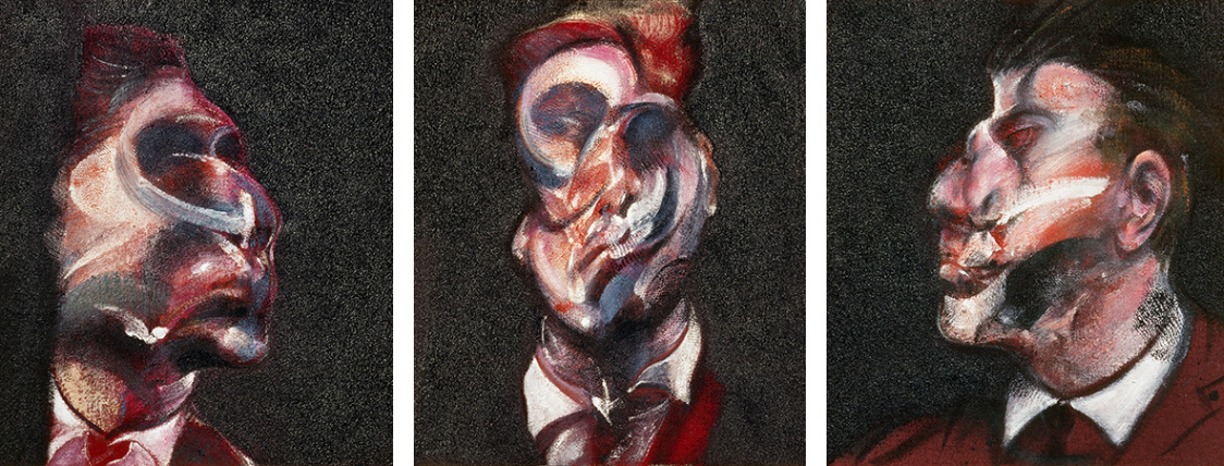 Francis Bacon, Three Studies of George Dyer. Oil on canvas. CR no. 66-11. © The Estate of Francis Bacon / DACS London 2018. All rights reserved.