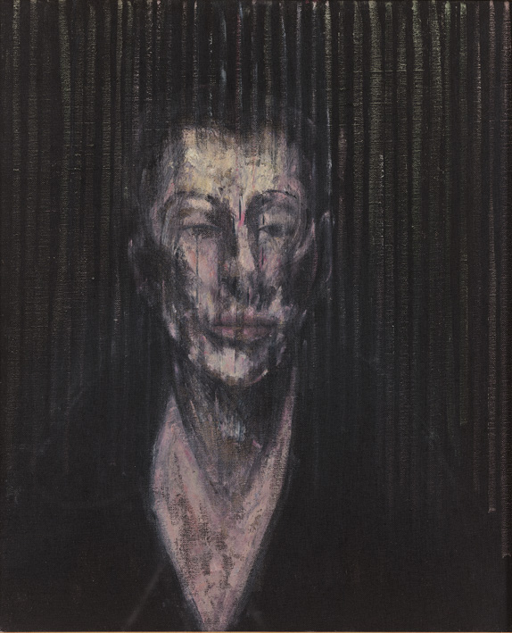 Francis Bacon, 'Sketch for a Portrait of Lisa' (1955) oil and sand on canvas. Arts Council Collection. © The Estate of Francis Bacon / DACS London 2014. All rights reserved.