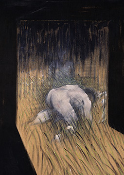 Francis Bacon, Man Kneeling in Grass, 1952