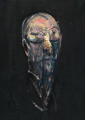 Francis Bacon, Study for Portrait IV (after the Life Mask of William Blake), 1955