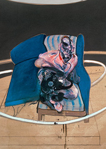 Francis Bacon, Study for Portrait on Folding Bed, 1963