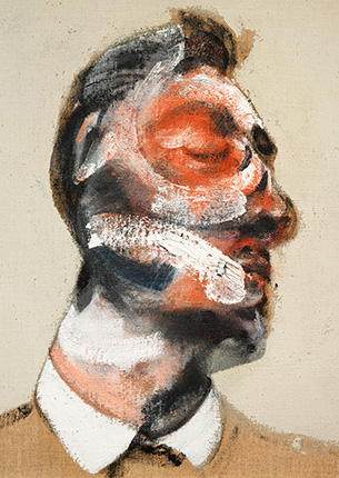 Francis Bacon, Three Studies for Portrait of George Dyer (on light ground), 1964