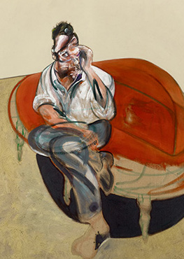 Francis Bacon, Portrait of Lucian Freud (on Orange Couch), 1965