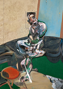 Francis Bacon, Portrait of George Dyer Staring at Blind-Cord, 1966