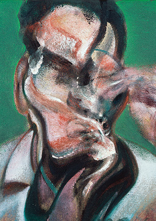 Francis Bacon, Three Studies for Portraits: Isabel Rawsthorne, Lucian Freud and J.H., 1966