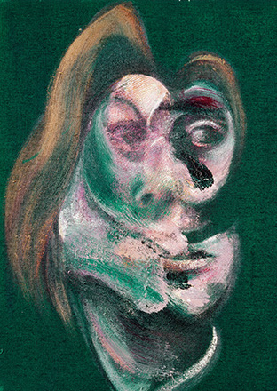Francis Bacon, Study for Head of Isabel Rawsthorne; Study for Head of George Dyer, 1967