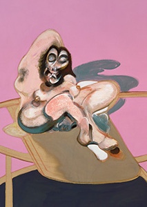 Francis Bacon, Study of Nude with Figure in a Mirror, 1969