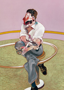 Francis Bacon, Study for Portrait of Lucian Freud (sideways), 1971