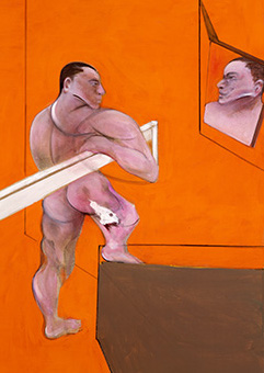Francis Bacon, Male Nude before Mirror, 1990