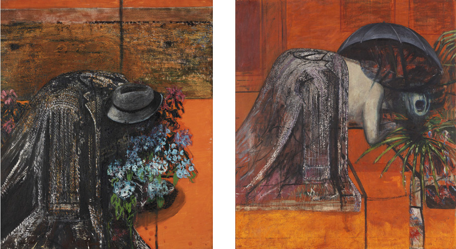Francis Bacon, Figure Study I, C. 1945-46. Oil on canvas. Figure Study II, C. 1945-46. Oil on canvas. © The Estate of Francis Bacon / DACS London 2017. All rights reserved.
