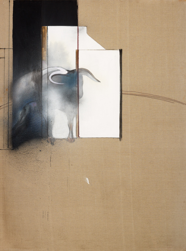 Francis Bacon, Study of a Bull,1991. Oil, aerosol paint and dust on canvas. The Estate of Francis Bacon All rights reserved, DACS 2017. Catalogue raisonné number: 91-04