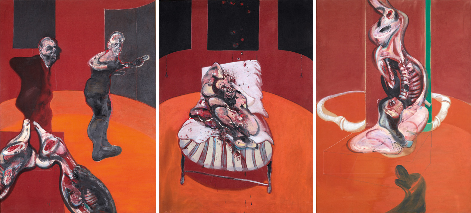 THREE STUDIES FOR A CRUCIFIXION, 1962