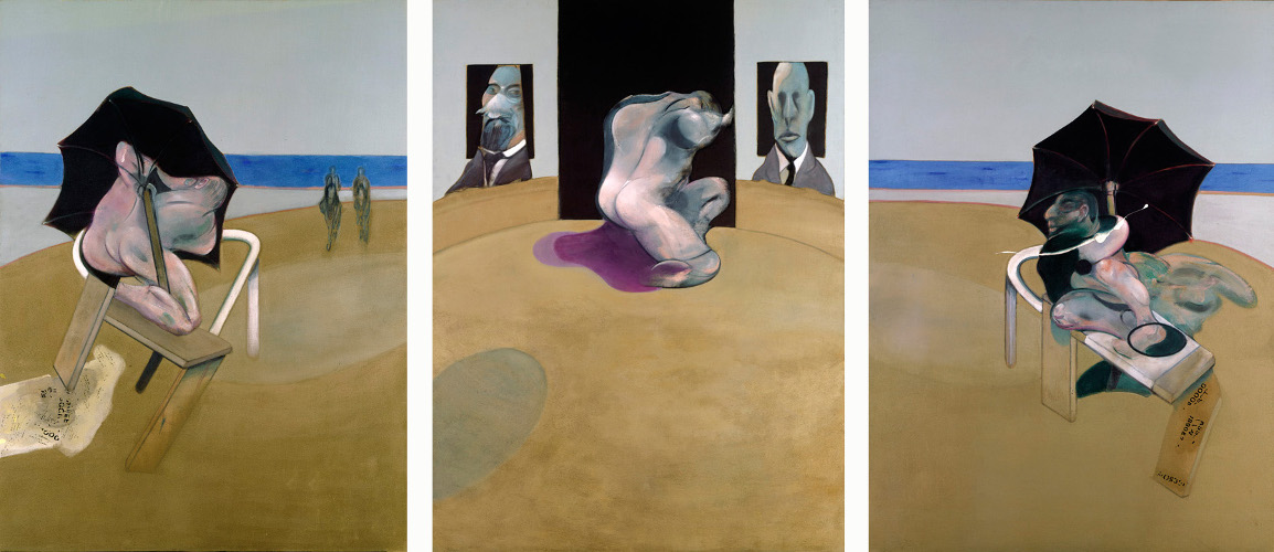 Decorative image: Francis Bacon's Triptych 1974-77.