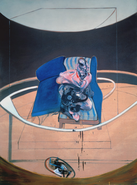 Decorative image: Francis Bacon's oil and sand on canvas painting Study for Portrait on Folding Bed, 1963