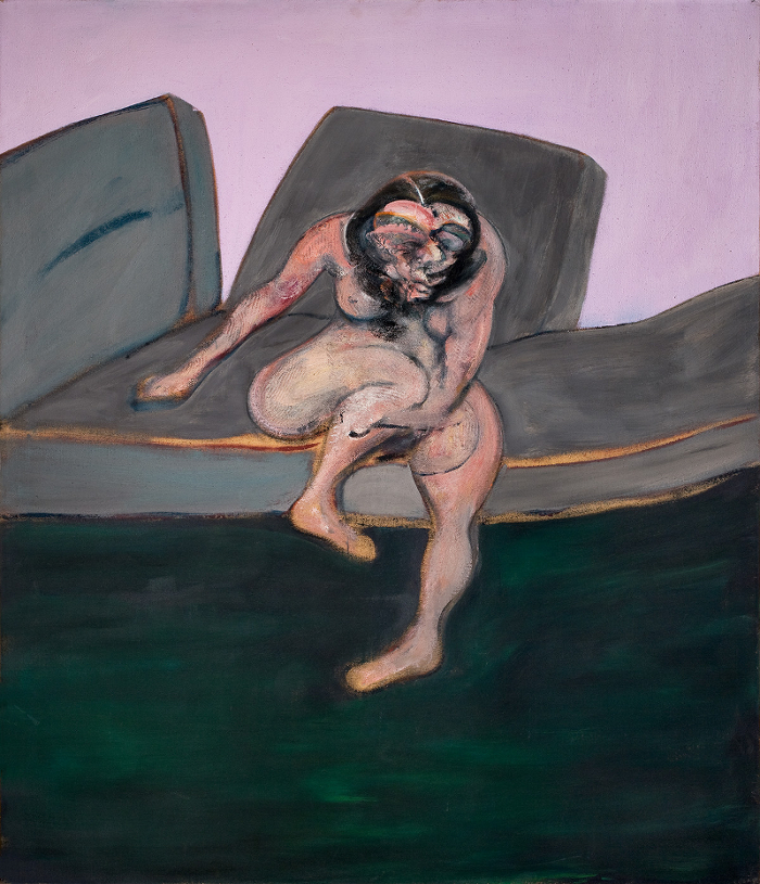 Decorative Image: Francis Bacon's oil on canvas painting Seated Woman, 1961