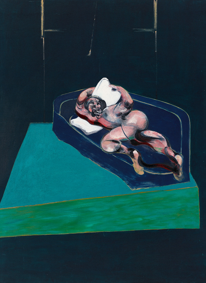 Decorative image: Francis Bacon's, Figure in a Room, 1962. Oil on Canvas. CR no. 62-12.