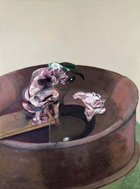 Decorative image, Francis Bacon's oil on canvas painting Portrait of George Dyer Crouching, 1966.