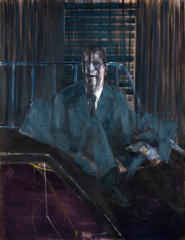 Image: Francis Bacon's oil on canvas painting: Study for a Portrait, 1953. Catalogue raisonné number 53-03.