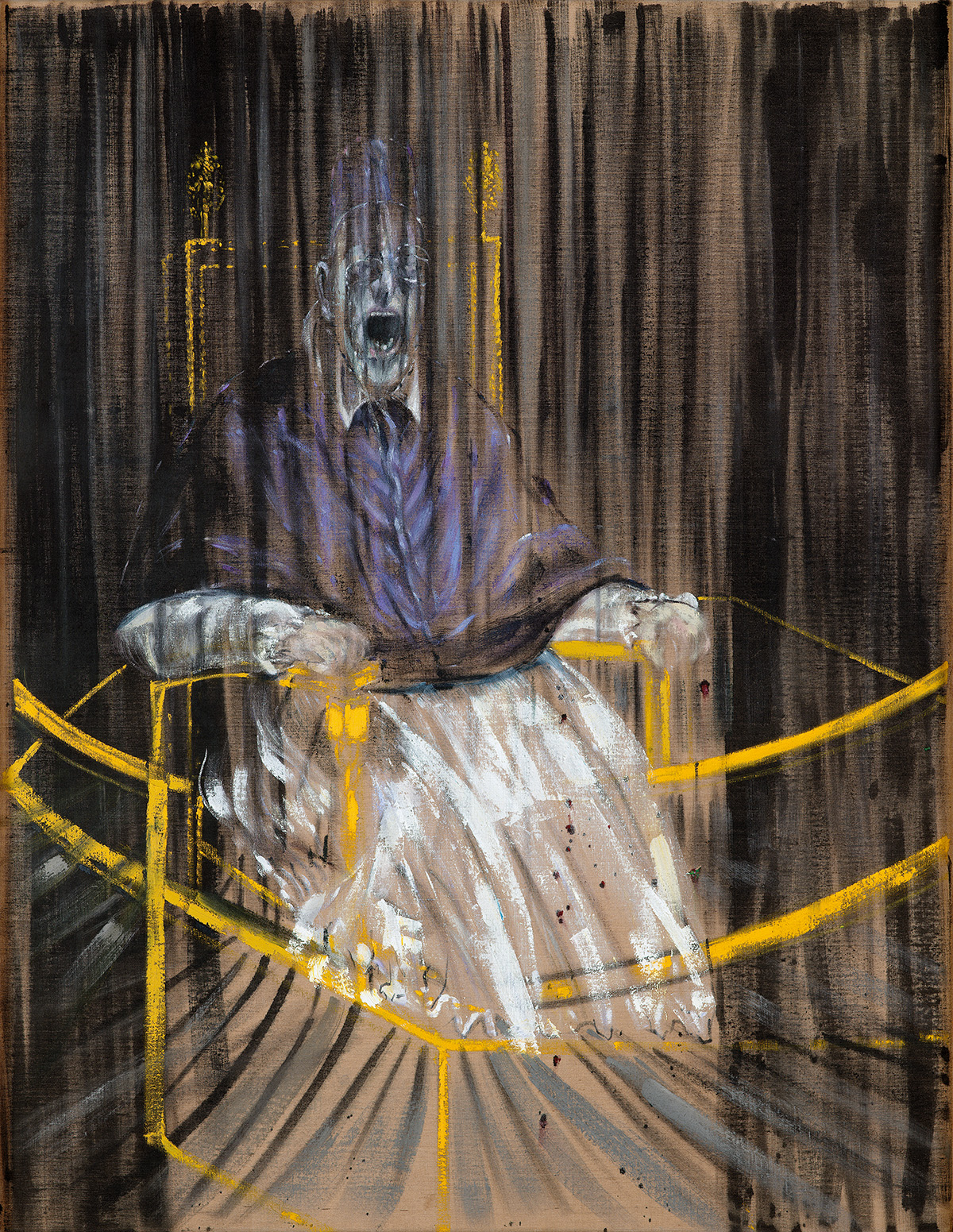 Francis Bacon, Study After Velázquez's Portrait of Pope Innocent X, 1953. Oil on canvas. CR number 53-02. © The Estate of Francis Bacon / DACS London 2020. All rights reserved.