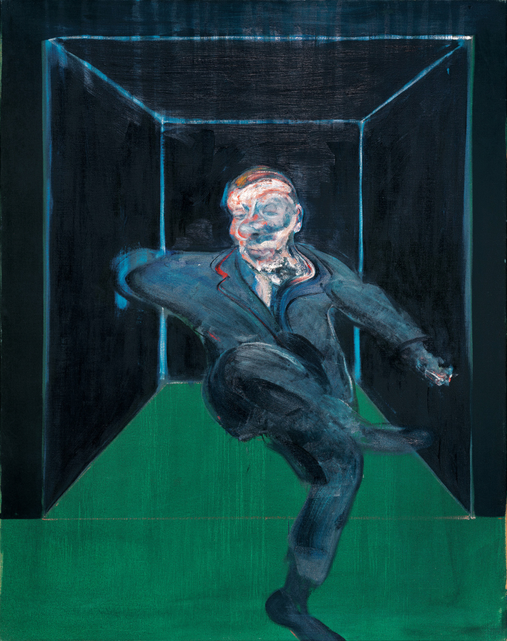 Image: Francis Bacon's oil on canvas painting: Seated Figure, 1960. Catalogue raisonné number 60-14.
