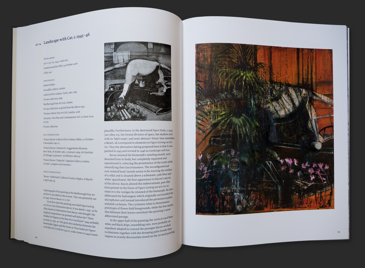 Francis Bacon, Ladscape with Car, c. 1945-46 (46-04), as featured in 'Francis Bacon Catalogue Raisonné', © The Estate of Francis Bacon / DACS London 2016. All rights reserved.