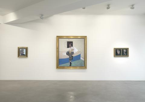 Installation shot from Irrational Marks including 64-11 Study for Self-Portrait and 66-02 Two Studies for Self-Portrait