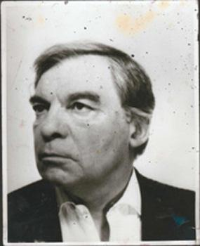 Bacon studio material, photograph of Jacques Dupin
