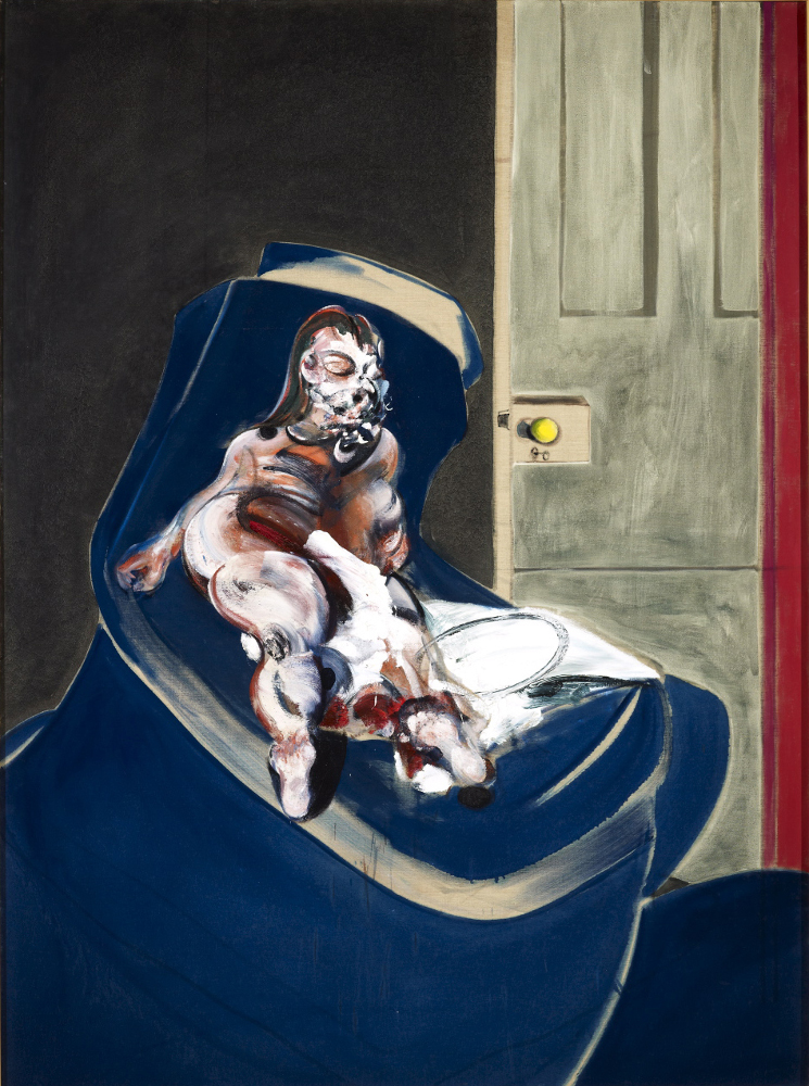 Francis Bacon, 'Portrait of Henrietta Moraes on a Blue Couch' (1965) Oil on canvas, 198 x 147.5cm, City of Manchester Art Galleries. Photo: AGNSW / Jenni Carter. © The Estate of Francis Bacon/ DACS/Licensed by Viscopy. All rights reserved.