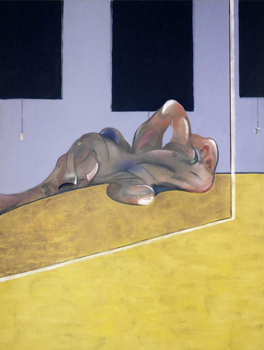 Francis Bacon, 'Lying Figure in a Mirror' (1971) Oil on canvas, © The Estate of Francis Bacon / DACS London 2013. All rights reserved. Lent by Museo de Bellas Artes de Bilbao