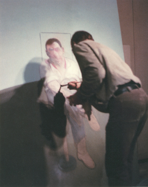 Francis Bacon painting Three Studies for a a Portrait of John Edwards 1984. Photo: John Edwards © The Estate of Francis Bacon. All rights reserved.